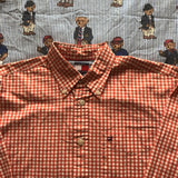Vintage Orange Check Tommy Hilfiger Button Down Shirt (S)-Shirts-DISTINCT - THREADS