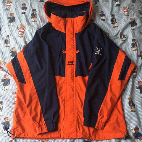 Vintage Orange Helly Hansen Twin Sails Jacket (M)-Jackets/Coats-DISTINCT - THREADS