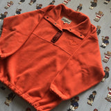 Vintage Orange Krizia Jeans Popper Fleece 🇮🇹 (M)-Fleeces-DISTINCT - THREADS