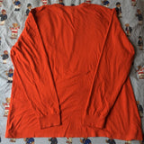 Vintage Orange Long Sleeve Ralph Lauren T Shirt (XL)-T Shirts-DISTINCT - THREADS