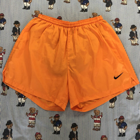 Vintage Orange Nike Sports Shorts (L)-Bottoms-DISTINCT - THREADS