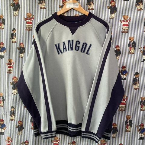 Vintage Pale Blue Kangol Sweatshirt (L)🦘-Sweatshirts/Jumpers-DISTINCT - THREADS