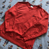 Vintage Pale Orange Ralph Lauren Sweatshirt 🍊(S/M)-Sweatshirts/Jumpers-DISTINCT - THREADS