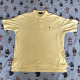 Vintage Pale Yellow Ralph Lauren Polo Shirt (L)-Polos-DISTINCT - THREADS