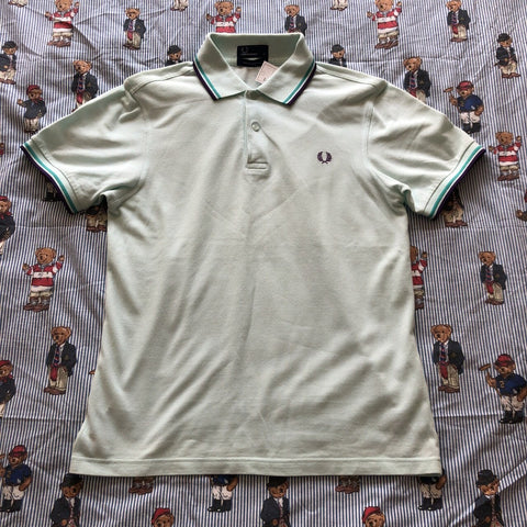 Vintage Pale/Mint Blue Fred Perry Polo Shirt (S)-Polos-DISTINCT - THREADS