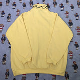 Vintage Pastel Yellow Nike 1/4 Sweatshirt (M)-Sweatshirts/Jumpers-DISTINCT - THREADS