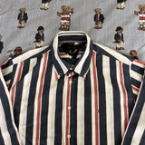 Vintage Pinstripe Tommy Hilfiger Button Down Shirt 💈(M)-Shirts-DISTINCT - THREADS