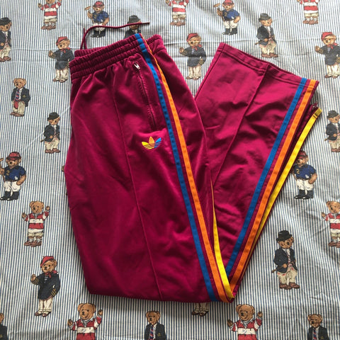 Vintage Purple Adidas Tracksuit Bottoms (M)-Bottoms-DISTINCT - THREADS