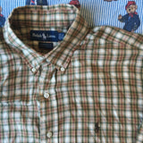 Vintage Ralph Lauren Button Down Check Shirt (Neck 15.5 Inch) (L)-Shirts-DISTINCT - THREADS