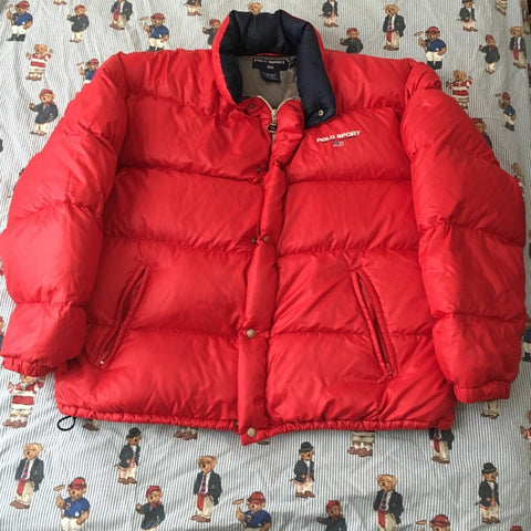 Vintage Ralph Lauren Polo Sport Puffa Coat (XL)-Jackets/Coats-DISTINCT - THREADS
