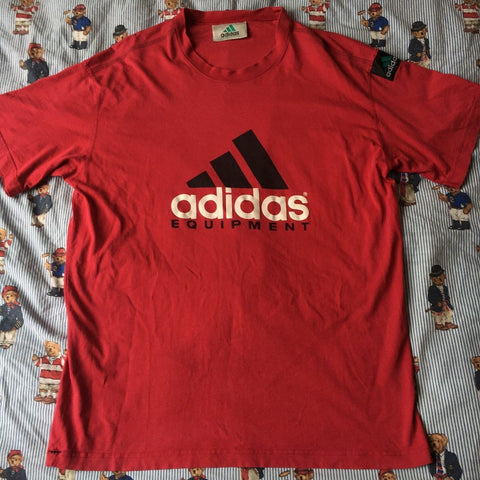 Vintage Red Adidas Equipment T Shirt (L)-T Shirts-DISTINCT - THREADS