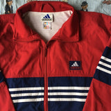 Vintage Red Adidas Jacket (S)-Jackets/Coats-DISTINCT - THREADS