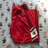Vintage Red Adidas Popper Tracksuit Bottoms (L)-Bottoms-DISTINCT - THREADS