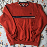 Vintage Red Adidas Sweatshirt (XL)-Sweatshirts/Jumpers-DISTINCT - THREADS