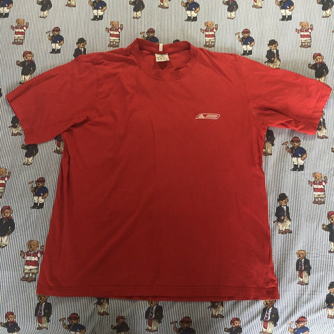 Vintage Red Adidas T Shirt (L)-T Shirts-DISTINCT - THREADS
