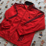 Vintage Red Adidas Track Jacket (L)-Jackets/Coats-DISTINCT - THREADS