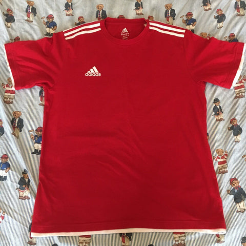 Vintage Red Adidas Tshirt (XL)-T Shirts-DISTINCT - THREADS