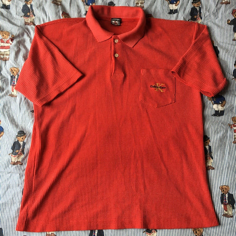Vintage Red Calvin Klein Polo Shirt-Polos-DISTINCT - THREADS