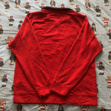 Vintage Red Nautica 1/4 Zip Sweatshirt (L)-Sweatshirts/Jumpers-DISTINCT - THREADS