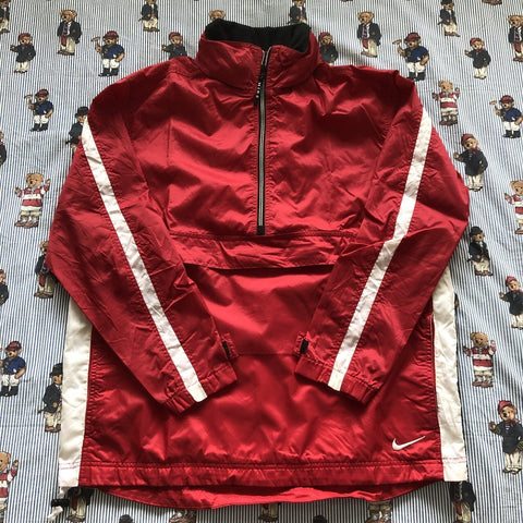 Vintage Red Nike 1/2 Zip Waterproof Jacket (M/L)-Jackets/Coats-DISTINCT - THREADS