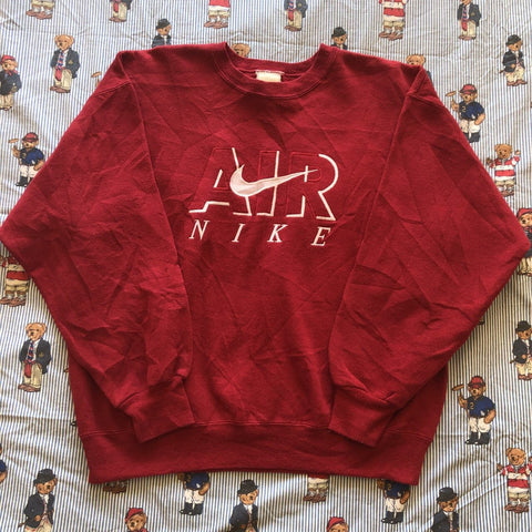 Vintage Red Nike Air Sweatshirt (M)-Sweatshirts/Jumpers-DISTINCT - THREADS