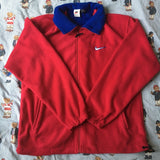 Vintage Red Nike Full Zip Fleece (XL)-Fleeces-DISTINCT - THREADS
