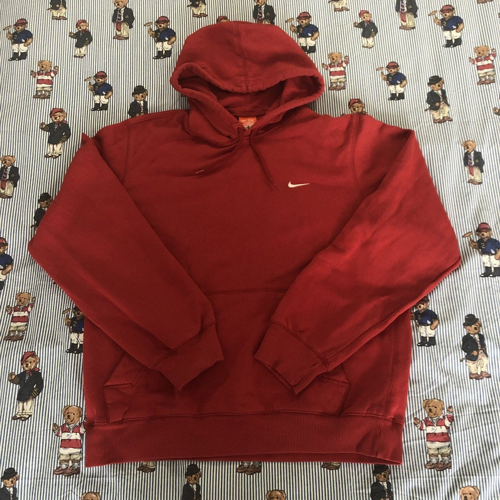 9e1bcd1a2 Vintage Red Nike Pullover Hoodie 🍒 (M)-Sweatshirts/Jumpers-DISTINCT -