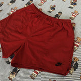 Vintage Red Nike Sports Shorts (L)-Bottoms-DISTINCT - THREADS