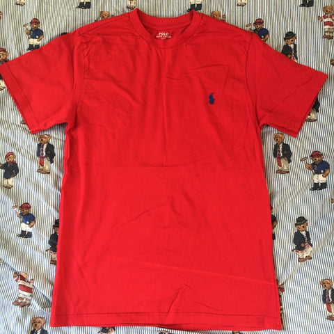 Vintage Red Polo Ralph Lauren T Shirt (M)-T Shirts-DISTINCT - THREADS