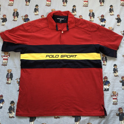Vintage Red Polo Sport Polo / Rugby Shirt 🇺🇸 (M)-Polos-DISTINCT - THREADS