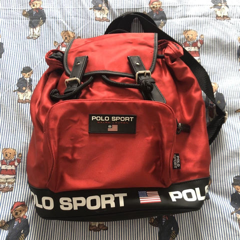 Vintage Red Polo Sport Rucksack ❤️-Hats/Accessories-DISTINCT - THREADS