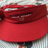 Vintage Red Polo Sport Sun Visor-Hats/Accessories-DISTINCT - THREADS