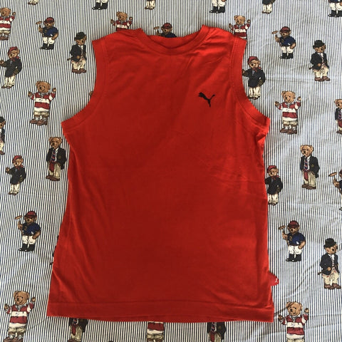 Vintage Red Puma Vest (M)-T Shirts-DISTINCT - THREADS