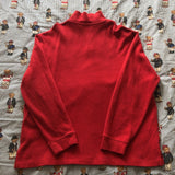 Vintage Red Ralph Lauren 1/4 Zip Sweatshirt (XL/L)-Sweatshirts/Jumpers-DISTINCT - THREADS