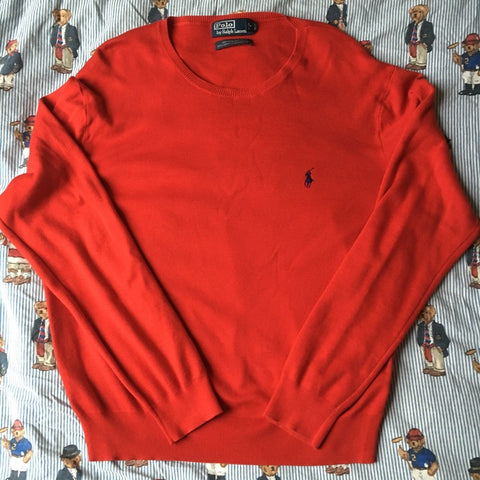 Vintage Red Ralph Lauren Jumper (L)-Sweatshirts/Jumpers-DISTINCT - THREADS