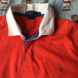 Vintage Red Ralph Lauren Rugby Shirt (L)-Shirts-DISTINCT - THREADS