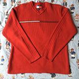 Vintage Red Tommy Hilfiger Jumper (L)-Sweatshirts/Jumpers-DISTINCT - THREADS