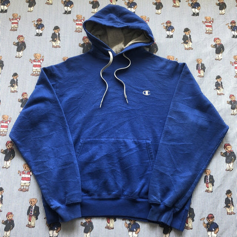 Vintage Royal Blue Champion Hoodie (L)-Sweatshirts/Jumpers-DISTINCT - THREADS