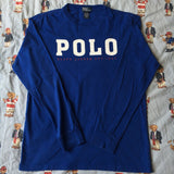 Vintage Royal Blue Polo Ralph Lauren Long sleeve Tshirt (M)-T Shirts-DISTINCT - THREADS