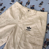 Vintage Sand Adidas Canvas Shorts (M)-Bottoms-DISTINCT - THREADS
