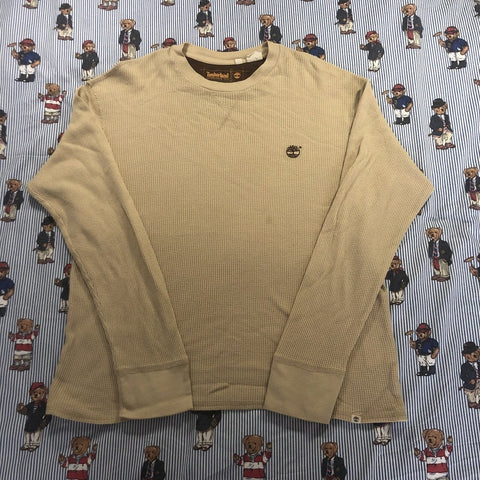 Vintage Sand Timberland Long Sleeve T Shirt (M)-T Shirts-DISTINCT - THREADS