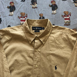 Vintage Sandstone Ralph Lauren Button Down Shirt (XL)-Shirts-DISTINCT - THREADS
