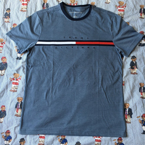 Vintage Slate Blue Tommy Hilfiger T Shirt (L)-T Shirts-DISTINCT - THREADS