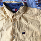 Vintage Sun Yellow Tommy Hilfiger Button Down Shirt (M)-Shirts-DISTINCT - THREADS