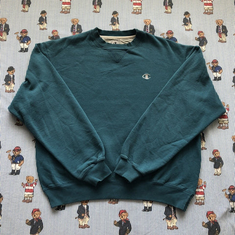 Vintage Teal Champion Sweatshirt (M)-Sweatshirts/Jumpers-DISTINCT - THREADS