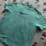 Vintage Teal Nike T Shirt (M/S)-T Shirts-DISTINCT - THREADS