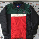 Vintage Tommy Hilfiger Pullover Coat (XL)-Jackets/Coats-DISTINCT - THREADS