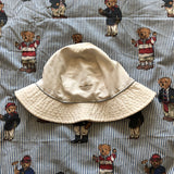 Vintage White Adidas Originals Canvas Bucket Hat (56/57)-Hats/Accessories-DISTINCT - THREADS