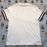 Vintage White Fred Perry T Shirt (L)-T Shirts-DISTINCT - THREADS
