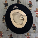 Vintage White & Navy Adidas Bucket Hat (L)-Hats/Accessories-DISTINCT - THREADS